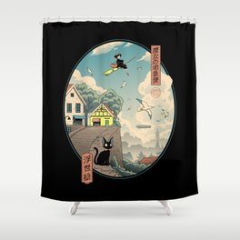 Ukiyo-e Delivery Shower Curtain