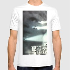Is this the future I was promised? MEDIUM White Mens Fitted Tee