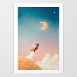 I am going to have breakfast Art Print