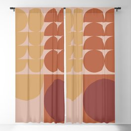 Pink & Brown Blackout Curtain