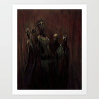 zombies Art Prints featuring Zombies! by Adam Howie