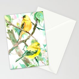 American Goldfinch and Apple Blossom Stationery Cards