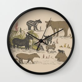 Tapirs Wall Clock