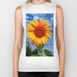 Blooming Sunflower  Biker Tank
