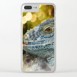 Large Scaly Green Iguana Lizard Clear iPhone Case