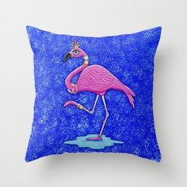 Fancy Francie Flamingo Throw Pillow