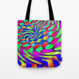 Tumbler #33 Trippy Psychedelic Optical Illusion Design by CAP Tote Bag