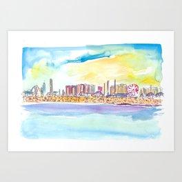 Fabulous Beach Day Scene in Coney Island New York Art Print