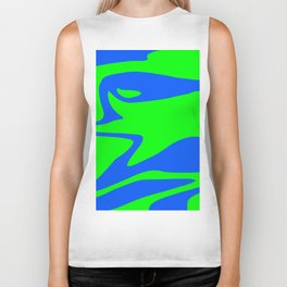 Wild: Blue and Green Biker Tank
