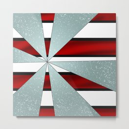 4Shades Glass: Red B/W Reverse Metal Print