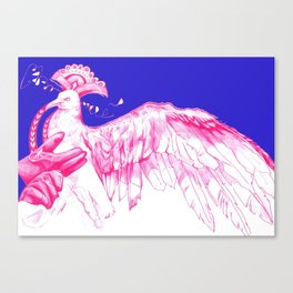 Like Soaring Thru the Heavens in Magenta Canvas Print