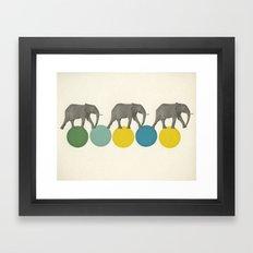 Travelling Elephants Framed Art Print