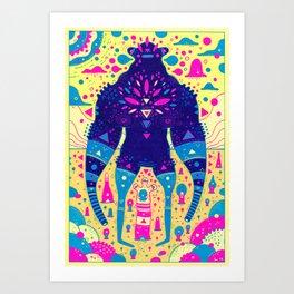 custard warrior Art Print