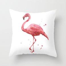 Flamingo, flamingo painting, tropical bird, pink ladies, pink flamingo Throw Pillow