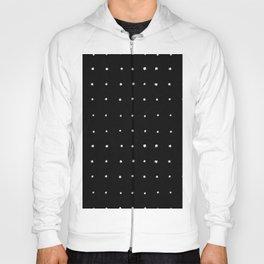 Dot Grid White on Black Hoody