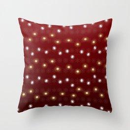 Christmas Light Red Throw Pillow