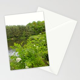 Wild Flowers on the lake Stationery Cards
