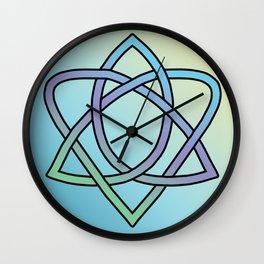 Pastel Trinity Heart Wall Clock
