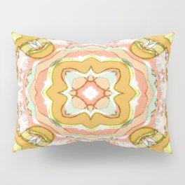 Abstract Sunshine Wheel - Peach Pillow Sham