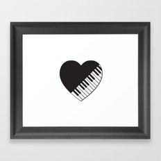 Piano Heart Framed Art Print