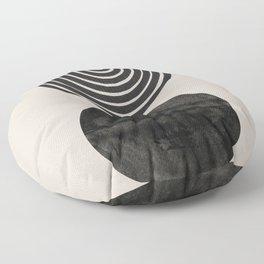 Woodblock Print, Modern Art Floor Pillow