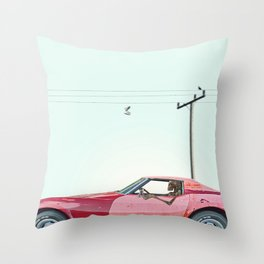 The last mile. Throw Pillow