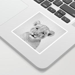 Baby Lion - Black & White Sticker