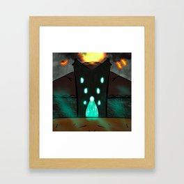 The gates to the Dark Land Framed Art Print