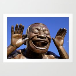 Yue Minjun Laughing men 1 Art Print