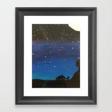night sky observations Framed Art Print