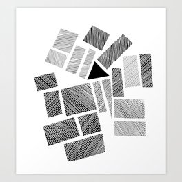 City Blocks and Triangle Art Print