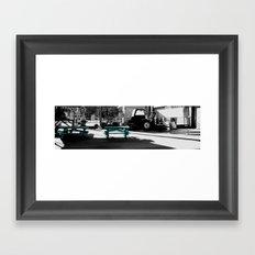blue picnic  Framed Art Print