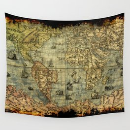 Vintage Old World Map Wall Tapestry