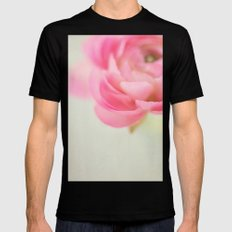 pink petals Mens Fitted Tee Black MEDIUM