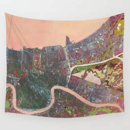 A Map of Vibrant New Orleans Wall Tapestry