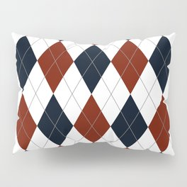 Blue Red Argyle Pillow Sham