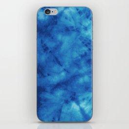 Blue wave pattern iPhone Skin