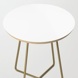 White Minimalist Solid Color Block Side Table