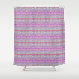 Pink Ice Abstract Watercolor Shower Curtain