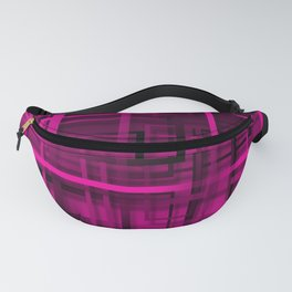 Black and purple abstract Fanny Pack