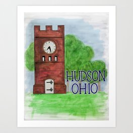 Hudson Ohio Clock Tower Art Print