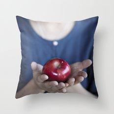 Apple, My Sweet? (Snow White) Throw Pillow
