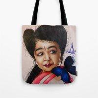 ahs Tote Bags featuring Ma Petite-AHS by MELCHOMM