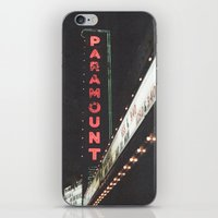 theater iPhone & iPod Skins featuring Paramount Theater  by Luke Gram