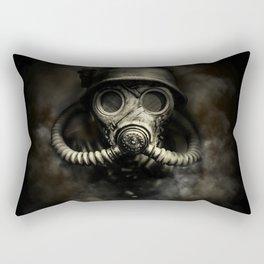 Vintage, soujer, warrior gas mask Rectangular Pillow