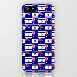 Mix of flag: Israel and Australia iPhone Case