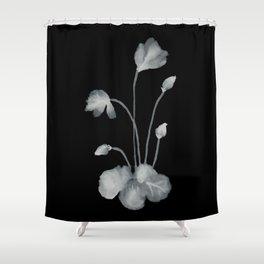 Ink flower inverse Shower Curtain