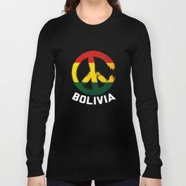 Bolivia Peace Sign Shirt Long Sleeve T-shirt