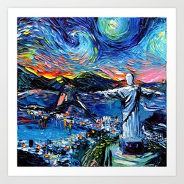 van Gogh Never Saw Christ The Redeemer Art Print