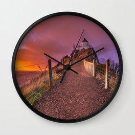 Sunrise over the Lighthouse Wall Clock